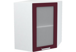 Ксения Навесной шкаф Угловой 590 мм с дверцей и стеклом