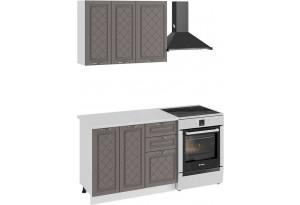 Кухонный гарнитур «Бьянка» стандартный набор (Белый/Дуб серый)