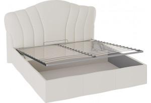 Кровать «Сабрина» с мягким изголовьем и подъемным механизмом Ткань Кашемир
