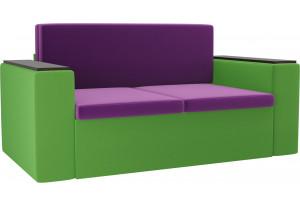 Детский диван Арси фиолетовый/зеленый (Микровельвет)