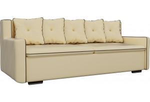 Прямой диван Витаре Бежевый (Экокожа)
