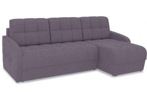 Диван угловой правый «Аспен Slim Т1» (Levis 68 (рогожка) Темно - фиолетовый)