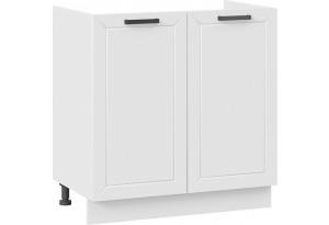 Шкаф напольный с двумя дверями (под накладную мойку) «Лорас» (Белый/Холст белый)