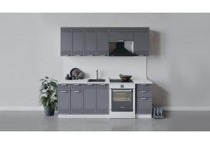 Кухонный гарнитур «Долорес» длиной 220 см (Белый/Титан)