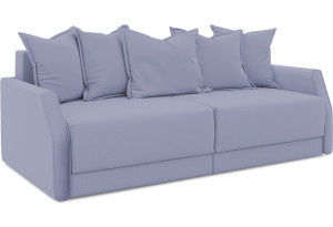 Диван «Люксор Slim» (Poseidon Blue Graphite (иск.замша) серо-фиолетовый)