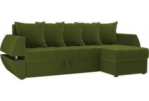 Угловой диван Атлантида У/Т Зеленый (Микровельвет)