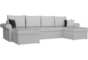 П-образный диван Милфорд Белый (Экокожа)