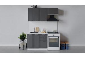 Кухонный гарнитур «Ольга» длиной 160 см (Белый/Графит)