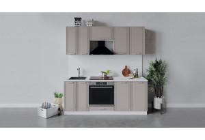 Кухонный гарнитур «Ольга» длиной 200 см со шкафом НБ (Белый/Кремовый)