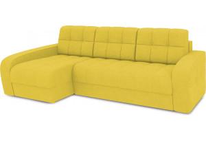 Диван угловой левый «Аспен Т2» (Neo 08 (рогожка) желтый)