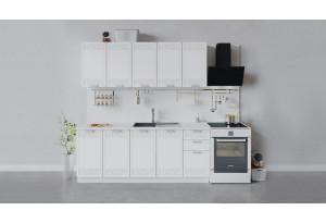 Кухонный гарнитур «Долорес» длиной 200 см (Белый/Сноу)