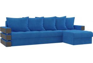 Угловой диван Венеция Голубой (Велюр)