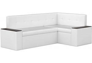 Кухонный угловой диван Остин Белый (Экокожа)