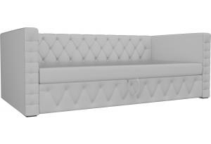 Детская кровать Таранто Белый (Экокожа)