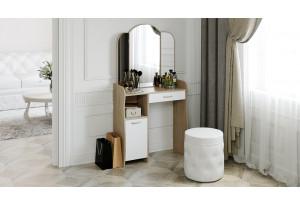 Стол туалетный «София Т1» Дуб сонома/Белый
