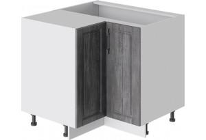 Шкаф напольный угловой с углом 90° (ПРОВАНС (Белый глянец/Санторини темный))