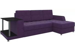 Угловой диван Атланта Фиолетовый (Микровельвет)