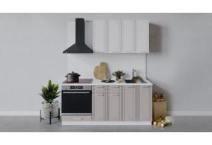 Кухонный гарнитур «Ольга» длиной 180 см со шкафом НБ (Белый/Белый/Кремовый)