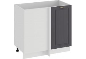 Шкаф напольный угловой «Лина» (Белый/Графит)