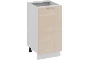 Шкаф напольный с одной дверью «Весна» (Белый/Ваниль глянец)