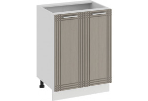 Шкаф напольный с двумя дверями «Ольга» (Белый/Кремовый)