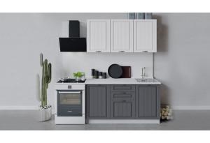 Кухонный гарнитур «Лина» длиной 150 см (Белый/Белый/Графит)