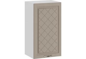 Шкаф навесной c одной дверью «Бьянка» (Белый/Дуб кофе)