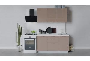 Кухонный гарнитур «Весна» длиной 150 см (Белый/Кофе с молоком)