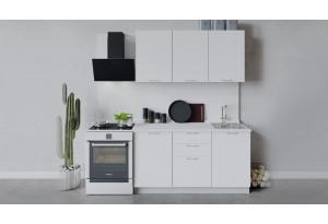 Кухонный гарнитур «Весна» длиной 150 см (Белый/Белый глянец)