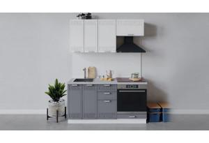Кухонный гарнитур «Долорес» длиной 160 см со шкафом НБ (Белый/Сноу/Титан)