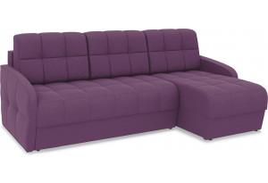 Диван угловой правый «Аспен Slim Т1» (Kolibri Violet (велюр) фиолетовый)