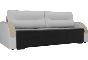 Прямой диван Дарси Черный/Белый (Экокожа)