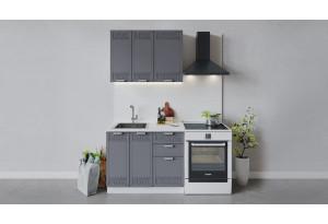 Кухонный гарнитур «Долорес» длиной 100 см (Белый/Титан)