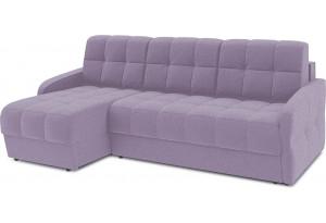 Диван угловой левый «Аспен Slim Т1» (Neo 09 (рогожка) фиолетовый)