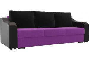 Прямой диван Монако Фиолетовый/Черный (Микровельвет/Экокожа)