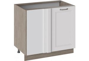 Шкаф напольный с планками для формирования угла (ОДРИ (Белый софт))