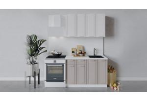 Кухонный гарнитур «Ольга» длиной 120 см (Белый/Белый/Кремовый)