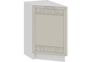 Шкаф напольный торцевой с одной дверью «Долорес» (Белый/Крем)