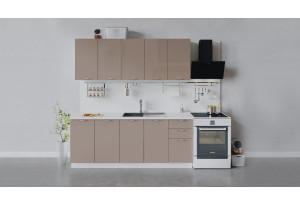 Кухонный гарнитур «Весна» длиной 200 см (Белый/Кофе с молоком)