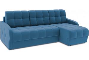 Диван угловой правый «Аспен Slim Т1» (Beauty 07 (велюр) синий)