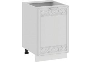 Шкаф напольный с одной дверью «Долорес» (Белый/Сноу)