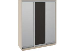 Шкаф-купе 3-х дверный «Румер» Дуб молочный, Зеркало/Венге/Зеркало
