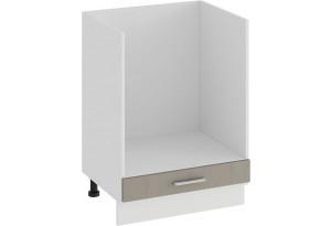 Шкаф напольный под бытовую технику «Ольга» (Белый/Кремовый)