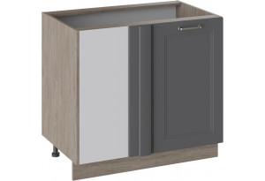 Шкаф напольный с планками для формирования угла ОДРИ (Серый шелк)