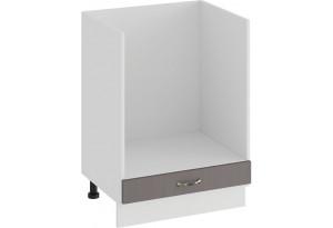 Шкаф напольный под бытовую технику «Бьянка» (Белый/Дуб серый)
