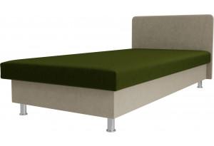 Кровать Мальта Зеленый/Бежевый (Микровельвет)