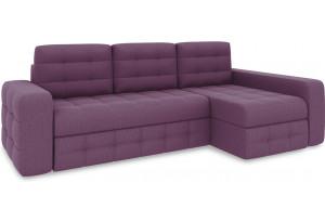 Диван угловой правый «Райс Т2» (Kolibri Violet (велюр) фиолетовый)