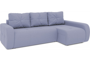 Диван угловой правый «Томас Т2» (Poseidon Blue Graphite (иск.замша) серо-фиолетовый)