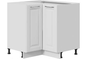 Шкаф напольный угловой с углом 90° (СКАЙ (Белоснежный софт))