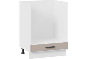 Шкаф напольный под бытовую технику «Лорас» (Белый/Холст латте)